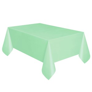 Mint Plastic Table Cover - Rectangle