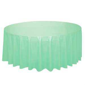 Mint Plastic Table Cover - Round