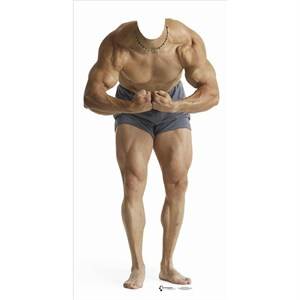 Muscle Man Stand In-Lifesized Standup