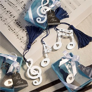Musical Note Bookmark Favors