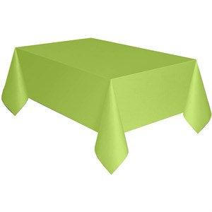 Neon Green Plastic Table Cover - Rectangle