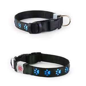 Night Scout Large Blue Dog Collar