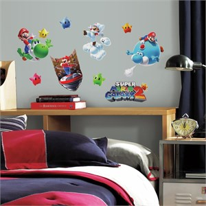 Nintendo-Mario Galaxy 2 Peel And Stick Decal