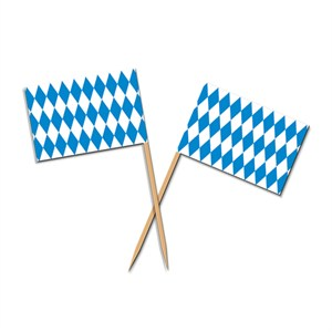 Oktoberfest Flag Food Picks
