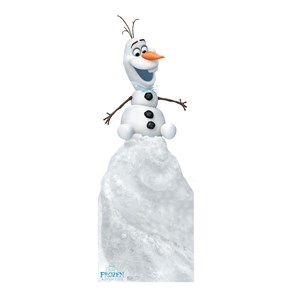 Olaf on Snow Mound Olafs Frozen Adventure Cardboard Cutout