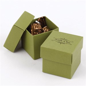 Olive Two Piece Favor Boxes
