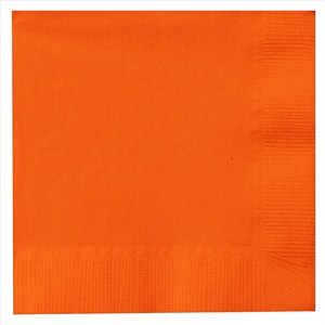 Paper Lunch Napkins - Orange