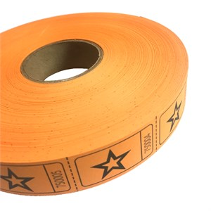 Orange Star Ticket Roll