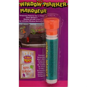 Orange Window Paint Marker