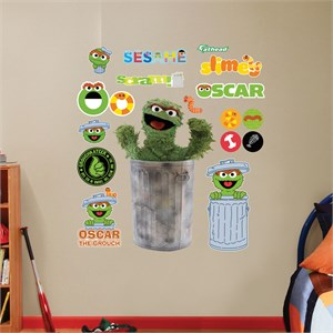 Oscar the Grouch REALBIG Wall Decal