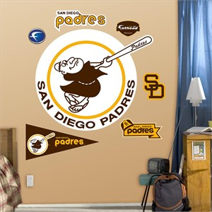 Padres Throwback Logo-Fathead
