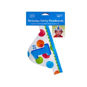 Paper Headbands 1st Dots Boy