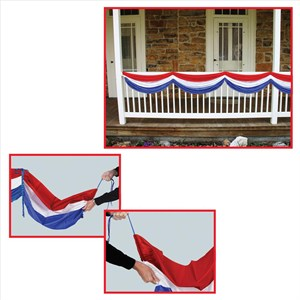 Red White And Blue Patriotic Fabric Bunting