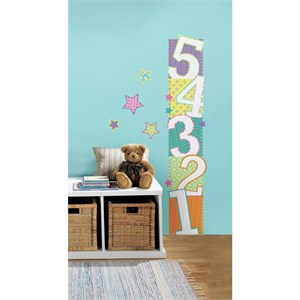 Patterned Numbers Growth Chart Decal