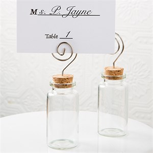 Perfectly Plain Glass Jar with Place Card Holder