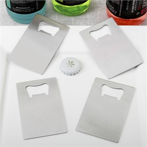 Perfectly Plain Collection Credit Card Stainless Steel Bottle Opener