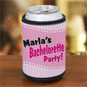 Personalized Bachelorette Party Can Wrap Koozie