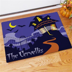 Personalized Haunted House Welcome Doormat