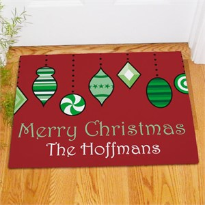 Personalized Holiday Ornaments Doormat