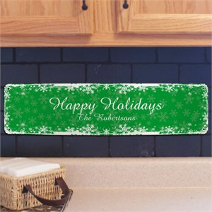 Personalized Holiday Wall Sign
