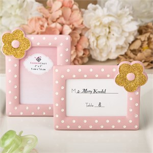 Pink and Gold Photo Frame / Placecard Frame