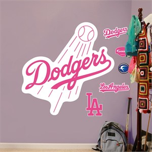 Pink Dodgers Logo-Fathead