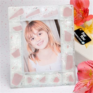 Pink Frosted Finish Picture Frame