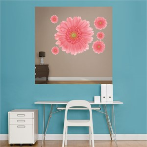 Pink Large Daisy REALBIG Wall Decal