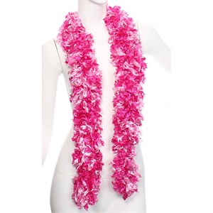 Faux Pink Mix Featherless Boa (6', 185 grams)