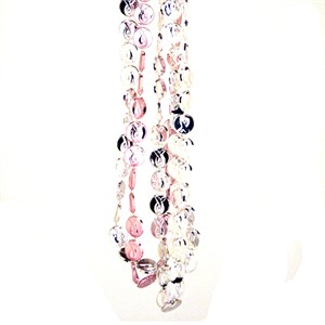 Pink Ribbon Bead Necklaces