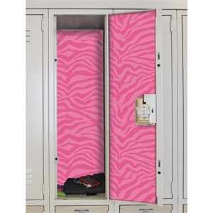 Pink Zebra Peel And Stick Locker Skins