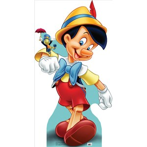 Pinocchio And Jiminy Cricket Lifesized Standup