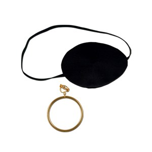 Pirate Earring And Eyepatch