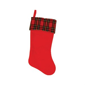 Plaid Felt Christmas Stocking