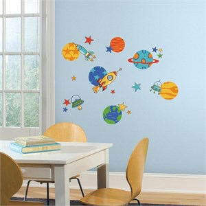 Planets and Rockets Decal
