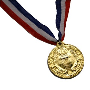 Plastic Gold Olympics Medal