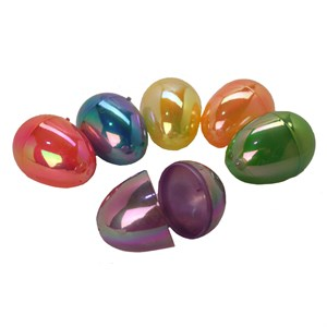 Plastic Pearlized Easter Eggs