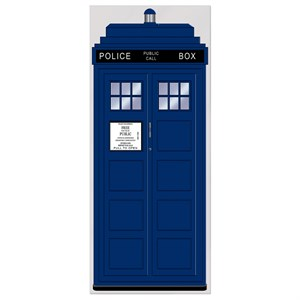Police Call Box Door Cover / TARDIS Entrance