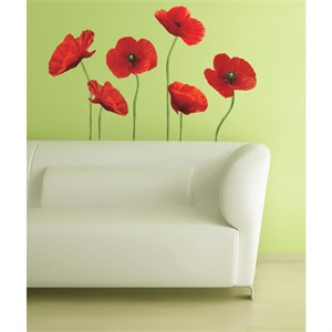 Poppies at Play Peel And Stick Giant Decal