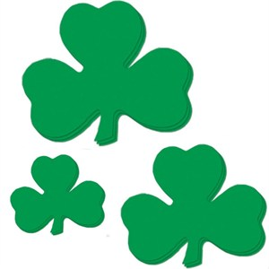 Printed Shamrock Cutouts - Assorted Sizes