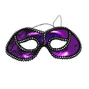 Purple Masquerade Half Mask