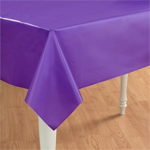 Purple Plastic Table Cover - Rectangle