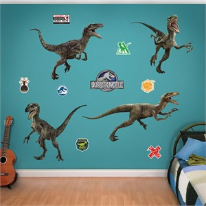 Raptor Collection Jurassic World Fathead Decals