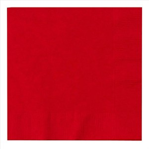 Paper Beverage Napkins - Red