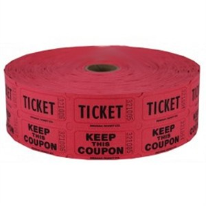 Red Double Raffle Ticket Roll