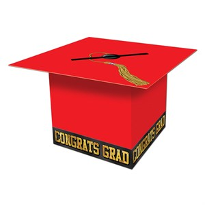 Red Graduation Cap Card Box