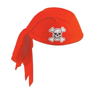 Red Pirate Scarf Hats
