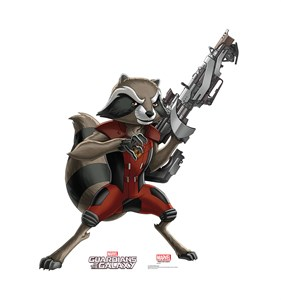 Rocket Raccoon Animated Guardians of the Galaxy Cardboard Cutout