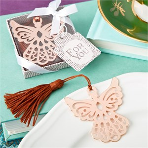 Rose Gold Guardian Angel Book Mark