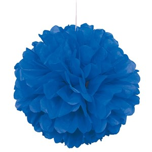 "Royal Blue 16"" Puff Ball Decoration"
